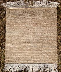 hemp rug natural color