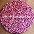 felt ball rug pink nepal
