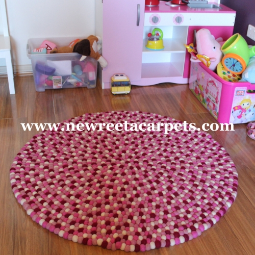 felt ball rug wholesale nepal